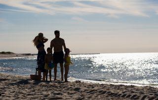 Rodzina na plazy w Ustce