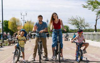 Rodzinna wycieczka rowerowa po Ustce